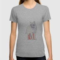 Cat 01 Womens Fitted Tee Athletic Grey SMALL