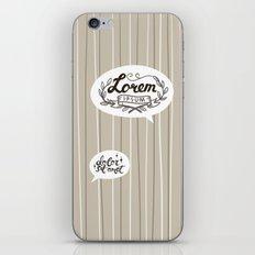 Designer SmallTalk iPhone & iPod Skin