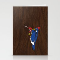 Modern Day Woodpecker Stationery Cards