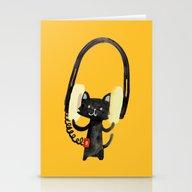 I Love Huge Headphone Stationery Cards
