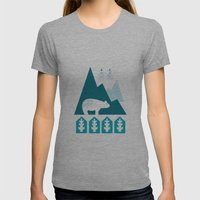 Heart The Polar Bear Womens Fitted Tee Athletic Grey SMALL