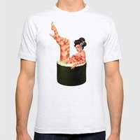 Sushi Girl Mens Fitted Tee Ash Grey SMALL