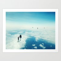 Heaven's already here above the clouds Art Print