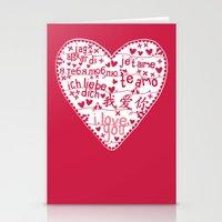 Te Amo Stationery Cards