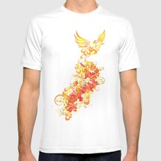 Phoenix Nights White Mens Fitted Tee SMALL