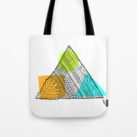 Triangle Doodle Tote Bag