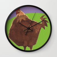 Big Rooster Wall Clock