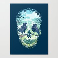 Nature's Skull Canvas Print