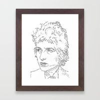 Bob Dylan WordsPortrait  Framed Art Print