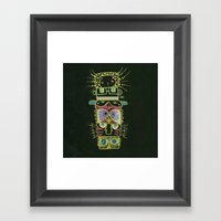 Gummy Totem Framed Art Print