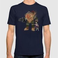 Bubbles Mens Fitted Tee Navy SMALL