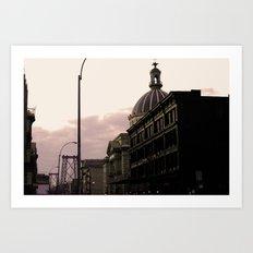 A Purple Day in Brooklyn Art Print