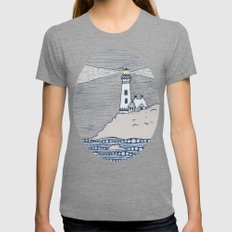 Lighthouse Womens Fitted Tee Tri-Grey SMALL