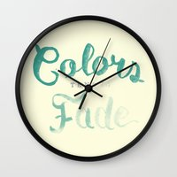 Colors tend to fade Wall Clock