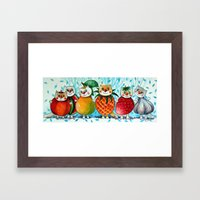 Five Fruits And Vegetab… Framed Art Print