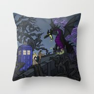 Throw Pillow featuring And Now You Will Deal Wi… by Karen Hallion Illust…