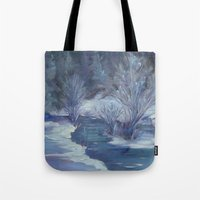 Bear Creek Winter Tote Bag