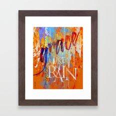 Grace Like Rain Framed Art Print