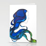Hair Like The Sea Stationery Cards