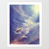 Cloud Chair Art Print
