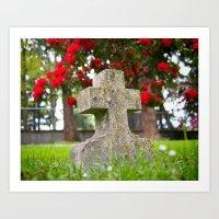 Cemetery Spring Art Print
