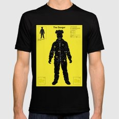 The Danger ( Yellow version ) Black SMALL Mens Fitted Tee