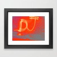 Light Graff: Dj Framed Art Print