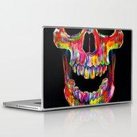 skull Laptop & iPad Skins featuring Chromatic Skull by John Filipe