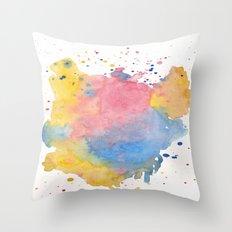 RAINBOW SPLATTER Throw Pillow