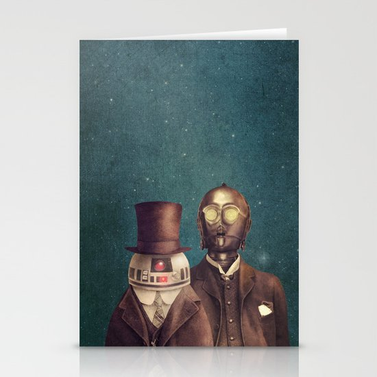 Victorian Robots  Stationery Card