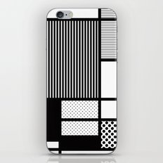Composition With Black, Dots, Stripes & Black iPhone & iPod Skin