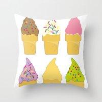Ice Cream Addiction Throw Pillow