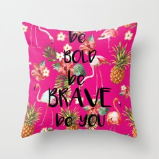 Tropical Flamingo Throw Pillow