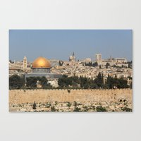 jerusalem and the dome of the rock Canvas Print