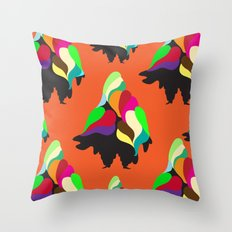 Holiday Mountain Suit Throw Pillow