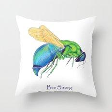 Bee Strong Throw Pillow