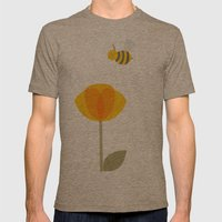 Bee a Flower Mens Fitted Tee Tri-Coffee SMALL