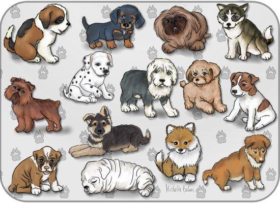 Puppies, more than a dozen.  Art Print