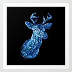 Аmazing deer head Art Print