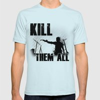 The Walking Dead Rick Mens Fitted Tee Light Blue SMALL