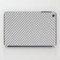 Grey Herringbone iPad Case
