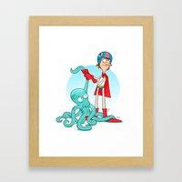 Octo-Wrestlin'! Framed Art Print
