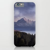 iPhone Cases featuring Mountains at Night by Evan Smith