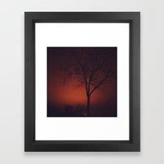 Red Sky at Night  Framed Art Print