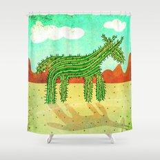 Cactus Unicorn Shower Curtain