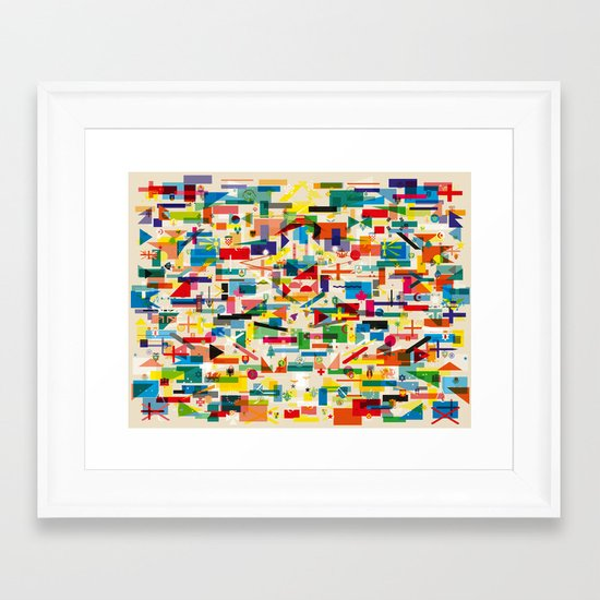 Olympic Village Framed Art Print