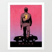DRIVE Poster Art Print