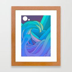 Wave after wave Framed Art Print