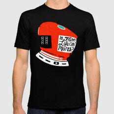 Life On Mars? SMALL Mens Fitted Tee Black