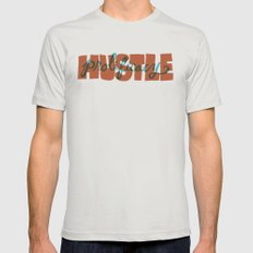 Hustle & Prolificacy Mens Fitted Tee Silver SMALL